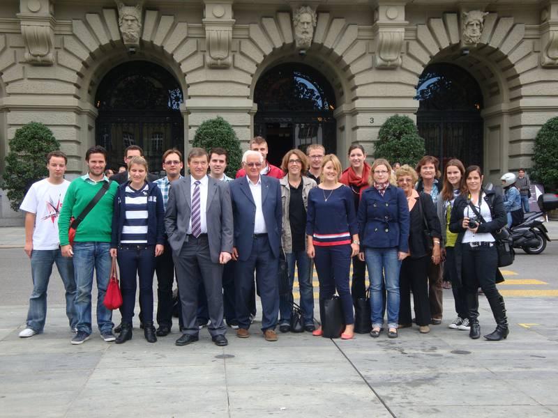 JCVP St.Gallen im Bundeshaus zu Gast (Donnerstag, 22.09.2011)